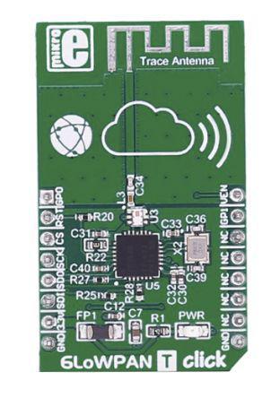 MIKROE-2218                                              Wireless 6LowPAN T Click - CC2520