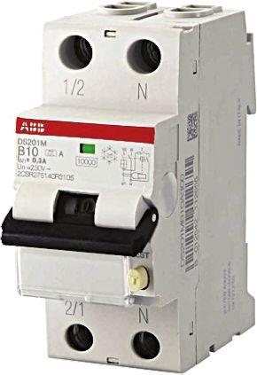 2CSR275040R1325                                              1+N 32 A RCBO, DIN Rail Mount, Trip Sensitivity 30mA System Pro M Compact DS201