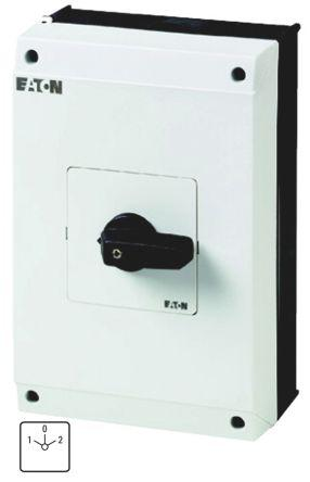 207220 | T5B-2-8211/I4                                              Eaton 2 Pole Enclosed Non Fused Isolator Switch - 63 A Maximum Current, 37 kW Power Rating, IP65