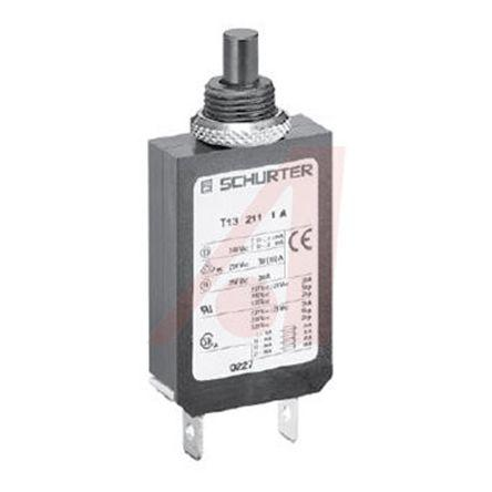 4411.0010                                              Schurter 20A 1 Pole Thermal Magnetic Circuit Breaker T13-211