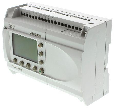 Mitsubishi Alpha 2 Logic Control With Display, 8 x Input, 6 x Output, 24 V dc Supply Voltage