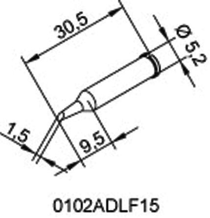 0212edlf sb ersa ersa 1 8 mm chisel soldering iron tip for use Soldering Glass ersa 1 8 mm chisel soldering iron tip for use with ersa soldering irons