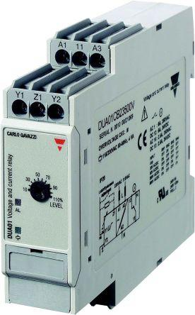 DUB01CB23500V                                              Carlo Gavazzi Voltage Monitoring Relay with SPDT Contacts, 1 Phase, 115/230 V ac