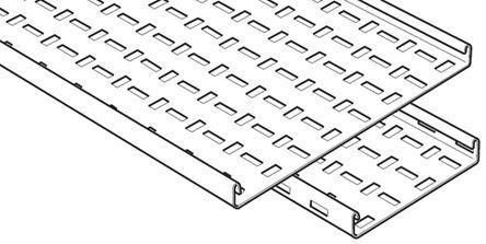 MRFL50PG                                              Legrand Medium Duty Tray Cable Tray, Pre-Galvanised Steel 3m x 50 mm x 25mm