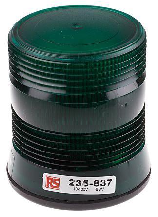 235-837                                              Xenon, Flashing Beacon V10991 Series, Green, Surface Mount, 10 → 100 V dc