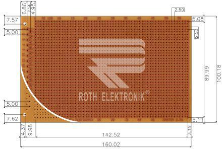 Roth Elektronik-re319-hp FR2 2.54 mm Eurocard PCB
