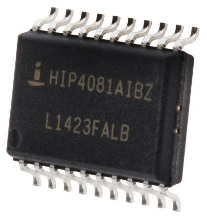 Renesas Electronics HIP4080AIPZ Quad Full Bridge MOSFET Power Driver 2.5A 9.5