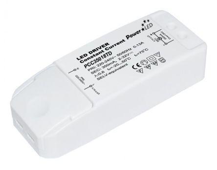 Power LED PCC35018TD Constant Current Triac LED Driver 18W 15-52V 350mA