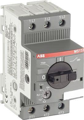 MS132-1.0                                              ABB 0.25 kW Manual 3P Motor Protection Circuit Breaker, 690 V ac, 1, 3 Phase, IP20