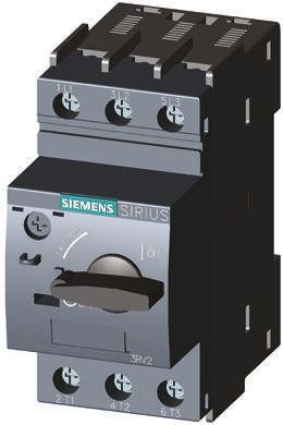 3RV2011-0GA10                                              Siemens Sirius 690 V Motor Protection Circuit Breaker, 3P Channels, 0.45 → 0.63 A, 100 kA