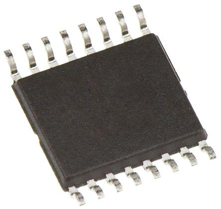 DAC8554IPW                                              Texas Instruments DAC8554IPW, 4-channel 16 bit Serial DAC, 200ksps, 16-Pin TSSOP