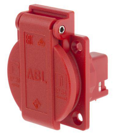 1461040 | ABL Sursum | ABL Sursum Red 1 Gang Schuko Socket