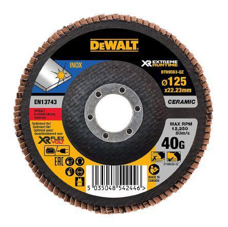 DT99583-QZ                                              Dewalt Ceramic Flap Disc, 12250, 125mm