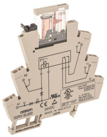 G2RV-SL500 DC24 | Omron | Omron SPDT Non-Latching Relay DIN ... on
