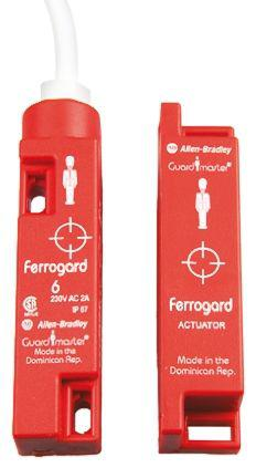 Ferrogard 440N Magnetic Safety Switch, Coded Actuator, Plastic, 250 V ac