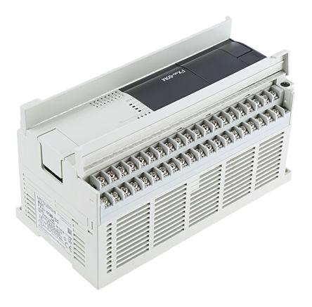 FX3G-60MT-DSS                                              Mitsubishi FX3G Series Logic Module, 12 → 24 V dc, 36 x Input, 24 x Output Without Display
