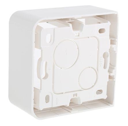 0 802 81                                              Legrand Mosaic White Plastic Back Box, NF, IP20, SURFACE Mount, 1 Gangs