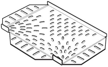 SST150S                                              Legrand Light Duty Equal Tee Stainless Steel Cable Tray Tee, 150 mm Width, 12mm Depth