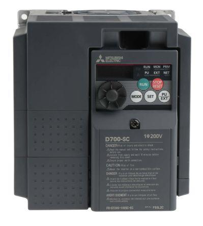 FR-D720S-100SC-EC                                              Mitsubishi FR-D720S Inverter Drive 2.2 kW No, 1-Phase In, 200 → 240 V ac, 10 A, 0.2 → 400Hz Out, ModBus
