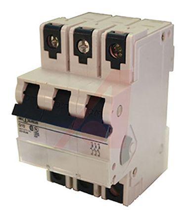 3D1UM                                              Altech 1A 3 Pole Thermal Magnetic Circuit Breaker, 480Y/277V V-EA