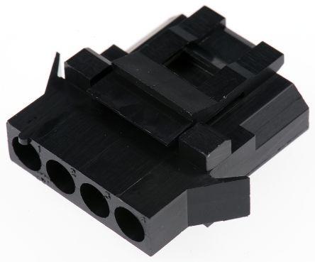 192990-0380/TST04RA00                                              ITT Cannon Trident Female Connector Housing, 5.08mm Pitch, 4 Way, 1 Row