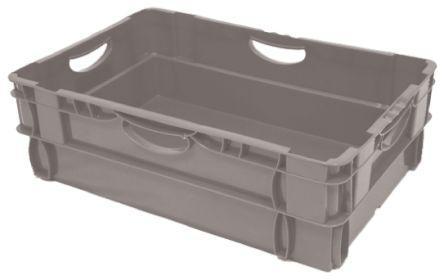 725-9173                                              RS Pro 36L Grey PP Storage Box, 190mm x 400mm x 600mm