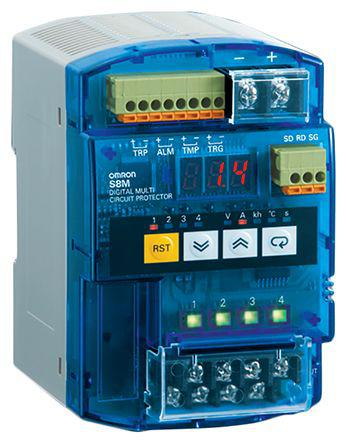 Omron S8M-CP04-R Power Supply 24V dc 30V dc 4A 1 Outputs 10W Digital Multi Circuit Protector
