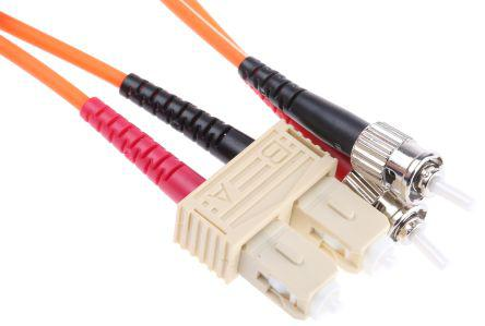 535-7452                                              RS Pro 2m Fibre Optic Cable Assembly, Connector A: ST, Connector B: SC, Multi Mode OM1