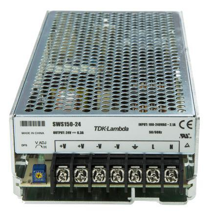 TDK-Lambda 150W Embedded Switch Mode Power Supply (SMPS), 6.3A, 24V