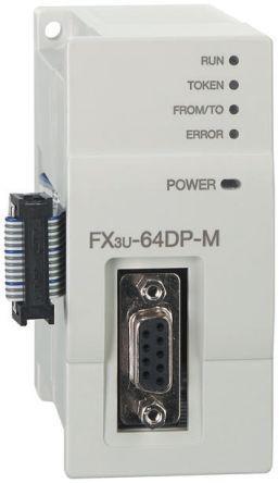 FX3U-64DP-M                                              Mitsubishi FX3U Series PLC I/O Module 24 V dc, 90 x 43 x 87 mm