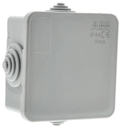Thermoplastic IP44 Junction Box, 65 x 65 x 32mm, Grey