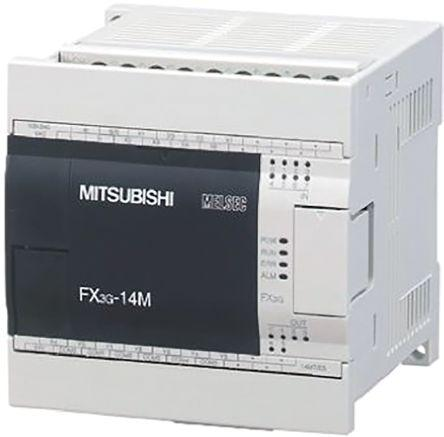 FX3G-14MR-DS                                              Mitsubishi FX3G Series Logic Module, 12 → 24 V dc, 8 x Input, 6 x Output Without Display