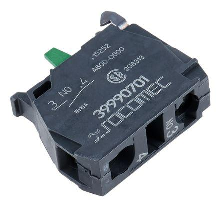 Auxiliary Contact Block, NO, 2.8 (dc) A, 3 (ac) A, 400 V ac, 48 V dc