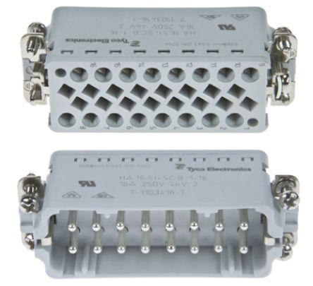 2-1103416-3                                              HD Connector, Insert HA16 male