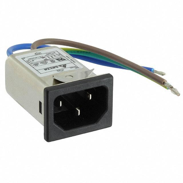 Pack of 6 PWR ENT RCPT IEC320-C14 PANEL QC 06GEEG3E