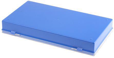V9-21V                                              Licefa 35 Cell Blue, Transparent PS, Adjustable Compartment Box, 42mm x 295mm x 175mm