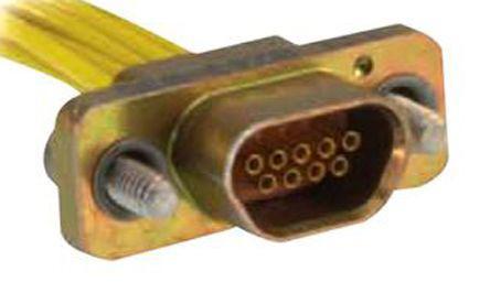 MDM-51PH003B-A174                                              ITT Cannon MDM Series 1.27mm Pitch 51 Way Straight Micro-D Connector, Plug, Aluminium Alloy Shell, 457.2mm Lead