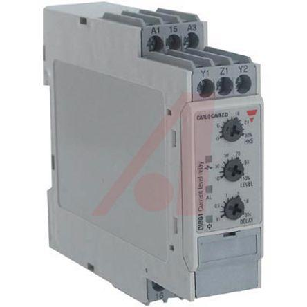 DIB01CB235A                                              Carlo Gavazzi Current Monitoring Relay with SPDT Contacts, 1 Phase, 115/230 V ac