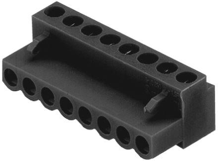 BL 5.08/08/180 SN BK -1716530000                                              Weidmuller BL Non-Fused Terminal Block, 8 Way/Pole, Screw Down Terminals, 26 → 14 AWG Cable Mount, Nylon, 400 V