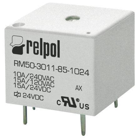 RELPOL RM84-2012-35-1024 DPDT in miniatura PCB Relè 24 V 8 A