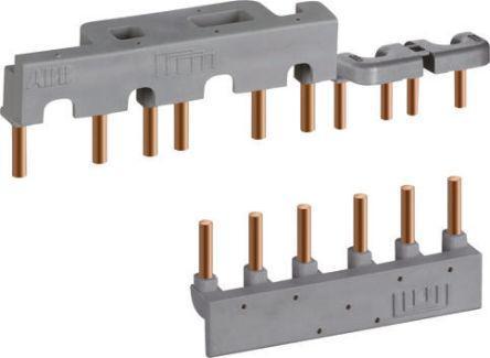 PS1-2-0-65                                              ABB 3 Phase Busbar, 2 Module, 17.5mm Pitch