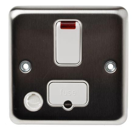 MK Electric 13A 1 Gang Switched Surface Mount Fused Spurs
