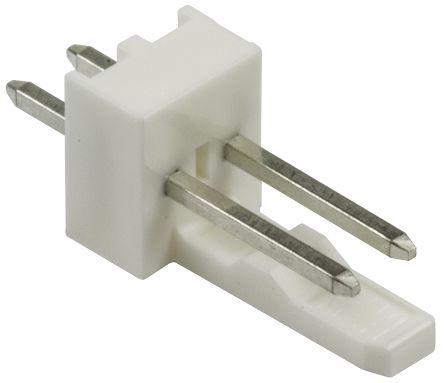 Molex KK 254 Series, Series Number 6410, 2.54mm Pitch 2 Way 1 Row Straight PCB Header, Through Hole, Solder Termination