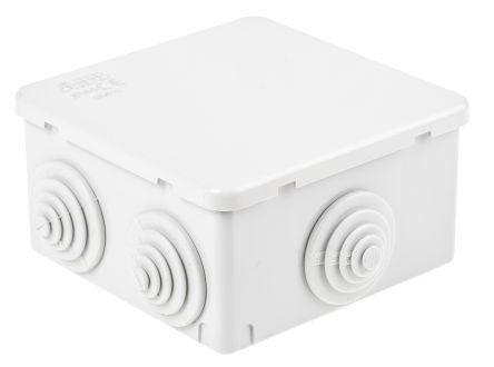Thermoplastic IP65 Junction Box, 100 x 100 x 50mm, Grey