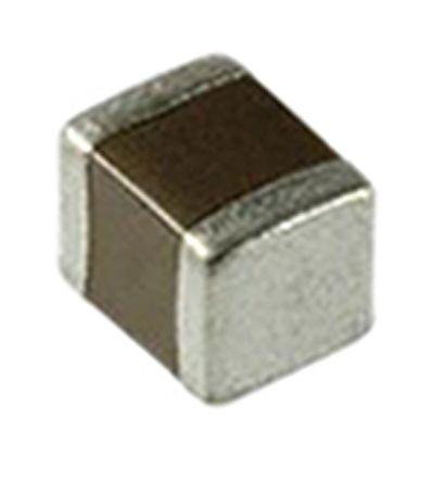 TDK 2pF Multilayer Ceramic Capacitor MLCC 50 V dc ±0.25pF C0G Dielectric C0603 Series SMD Max. Op. Temp. +125°C