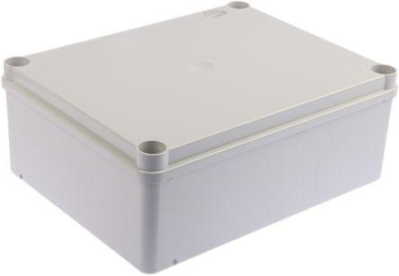 Thermoplastic IP65 Junction Box, 220 x 170 x 80mm, Grey
