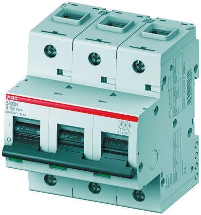 2CCS893001R0631                                              High Performance S800 MCB Mini Circuit Breaker 3P, 63 A, 6 kA, Curve D