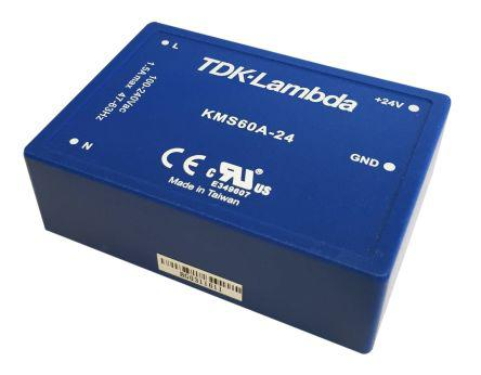 KMS-60A-12                                              TDK-Lambda 60W Embedded Switch Mode Power Supply SMPS, 5A, 12V dc