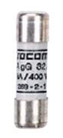 60220010                                              Socomec, 10A Cartridge Fuse, 14.3 x 51mm