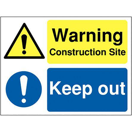 181-2262                                              RS PRO PP Location Sign, Warning-Text, English